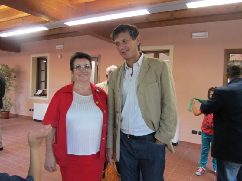Marisa Viadana con arch. Carlo Catacchio