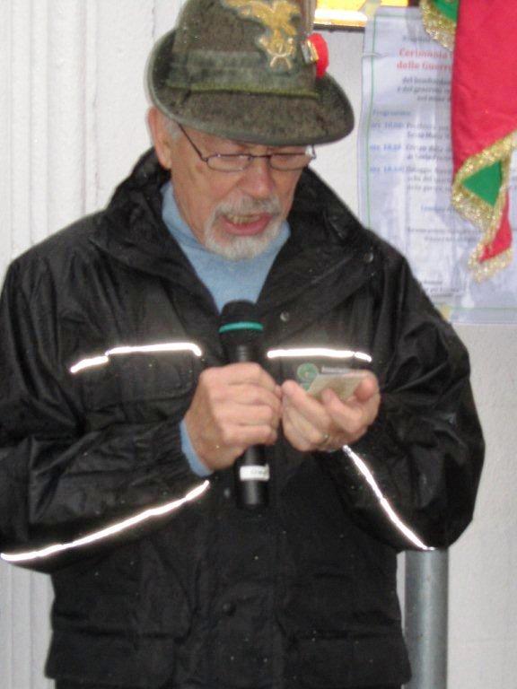 Roberto Scloza capogruppo Alpini di Crescenzago