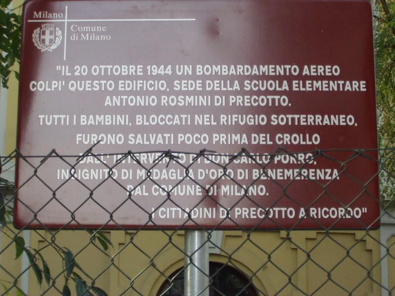 Targa Scuola Rosmini