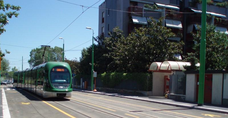 Il primo viaggio del tram 7