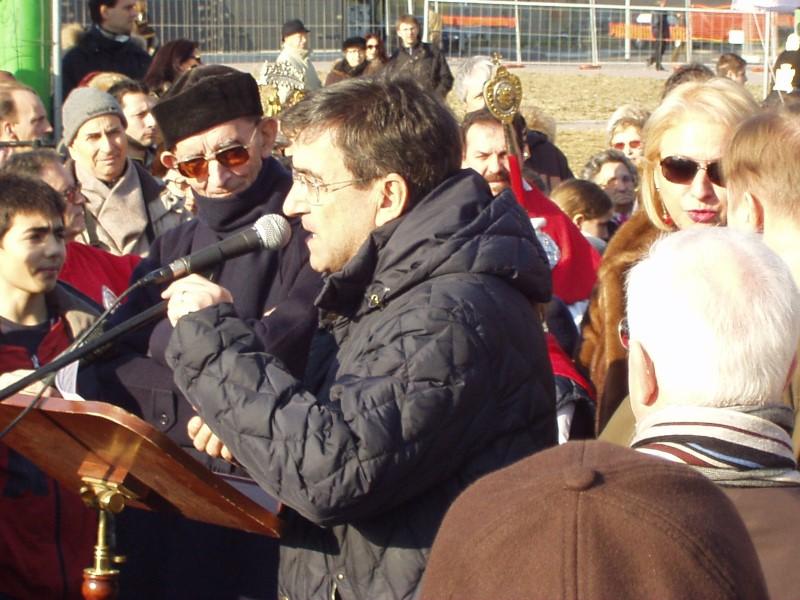 Mons. Vergani e Mario Mameli
